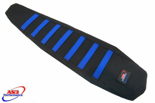 YAMAHA YZF 250 2019-2021 450 2018-2021 WRF AS3 PERFORMANCE RIBBED GRIPPER SEAT COVER BLUE