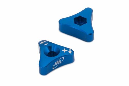 SHERCO SE SE-F 125 250 300 450 R 13-20 AS3 FORK ADJUSTERS (WP FORKS) BLUE