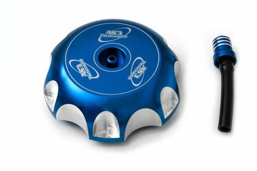 HONDA CRF 250 450 R X 2002-2017 AS3 ALUMINIUM PETROL FUEL GAS CAP BLUE