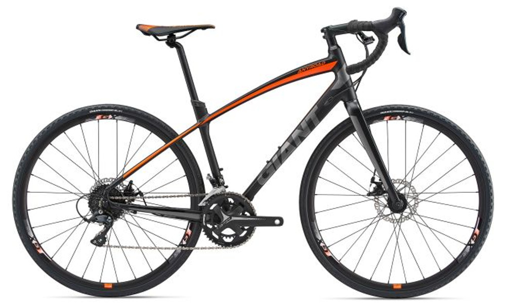 AnyRoad 2 Size Medium Matte Black/Neon Orange/Grey
