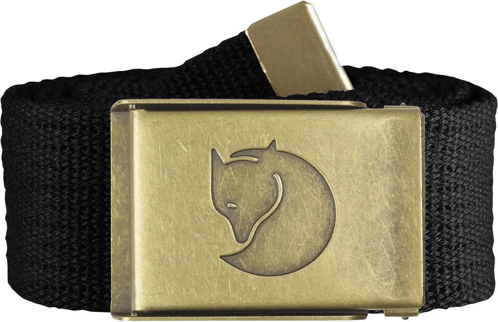 Canvas Brass Belt 4 cm. / Canvas Brass Belt 4 cm. Black 1 Size