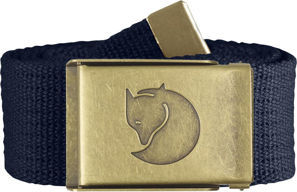 Canvas Brass Belt 4 cm. / Canvas Brass Belt 4 cm. Dark Navy 1 Size
