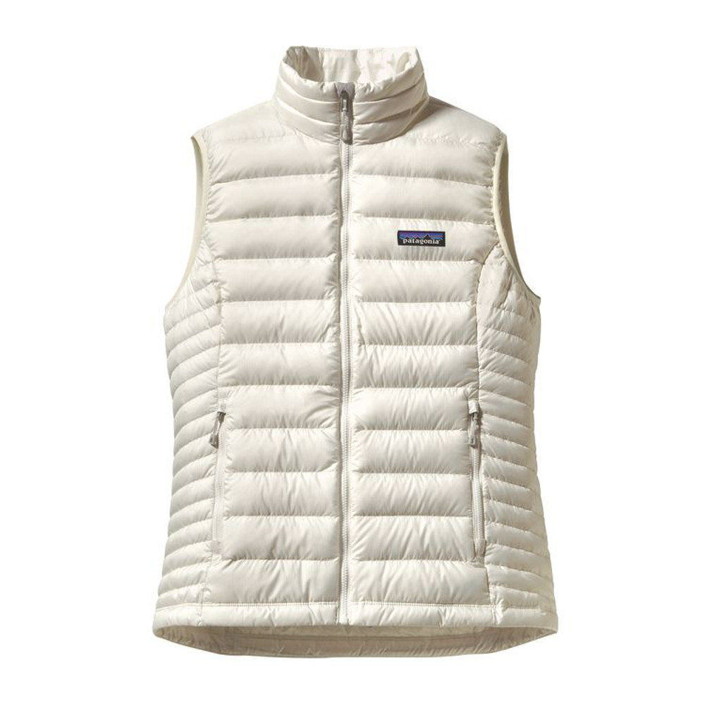 W's Down Sweater Vest Birch White