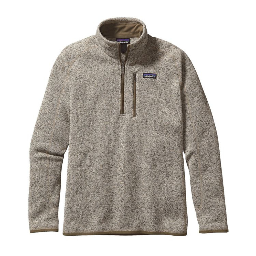M's Better Sweater 1/4 Zip Bleached Stone