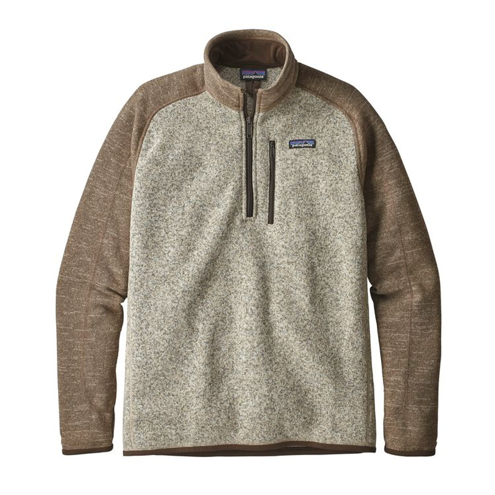 M's Better Sweater 1/4 Zip Bleached Stone w/Pale Khaki