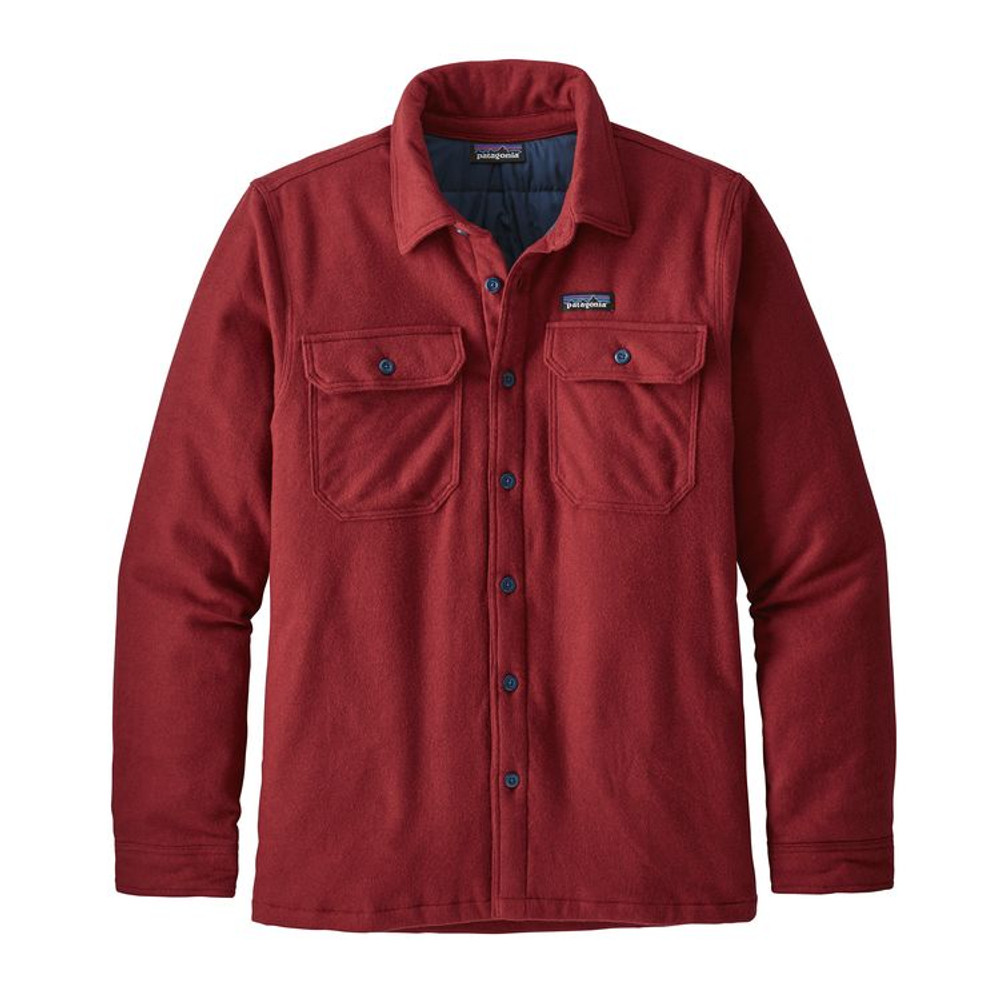 M's Insulated Fjord Flannel Jkt Oxide Red