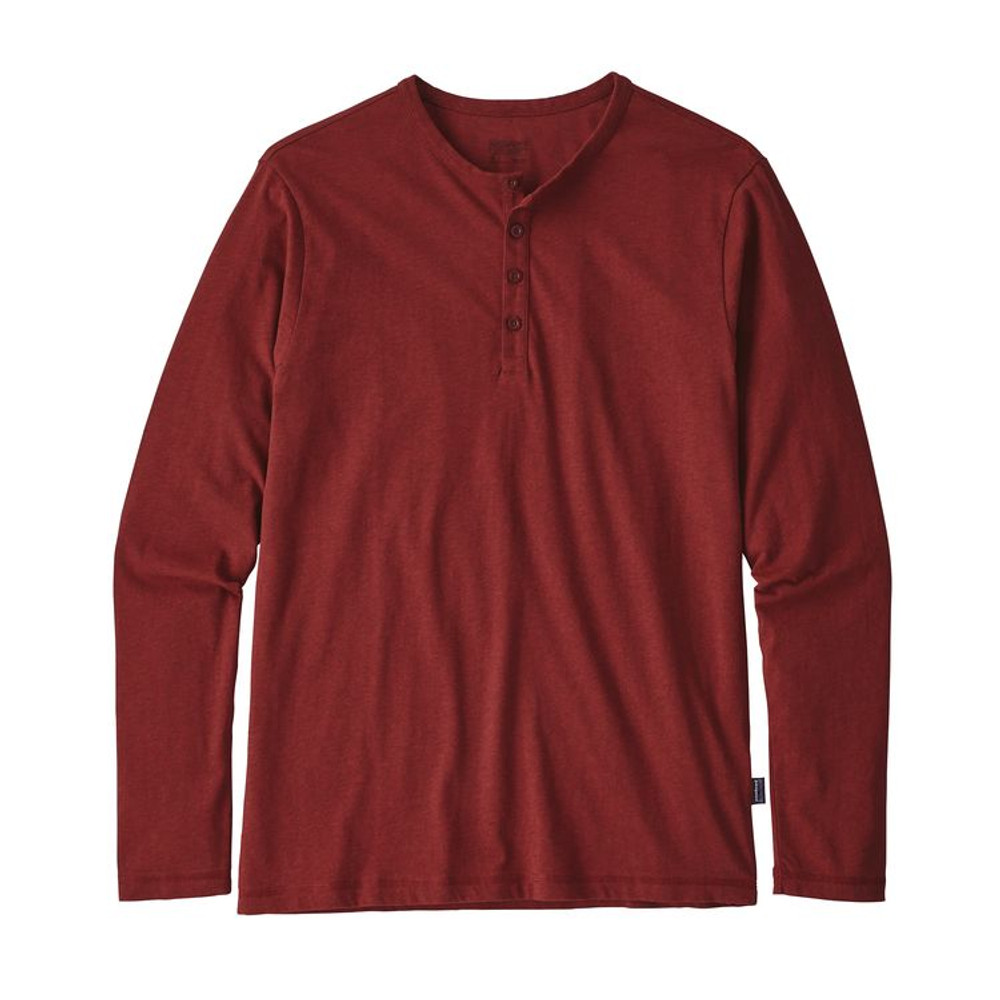 M's L/S Daily Henley Oxide Red