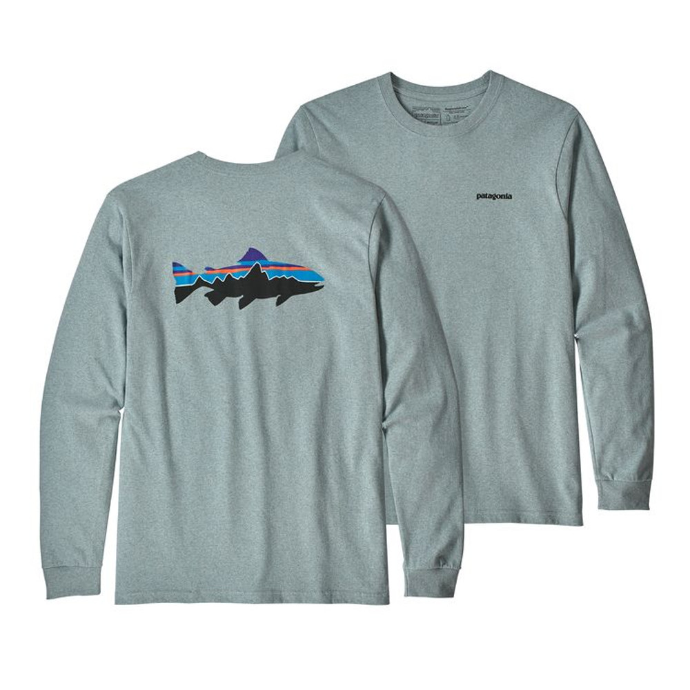 M's L/S Fitz Roy Trout Responsibili-Tee Cadet Blue