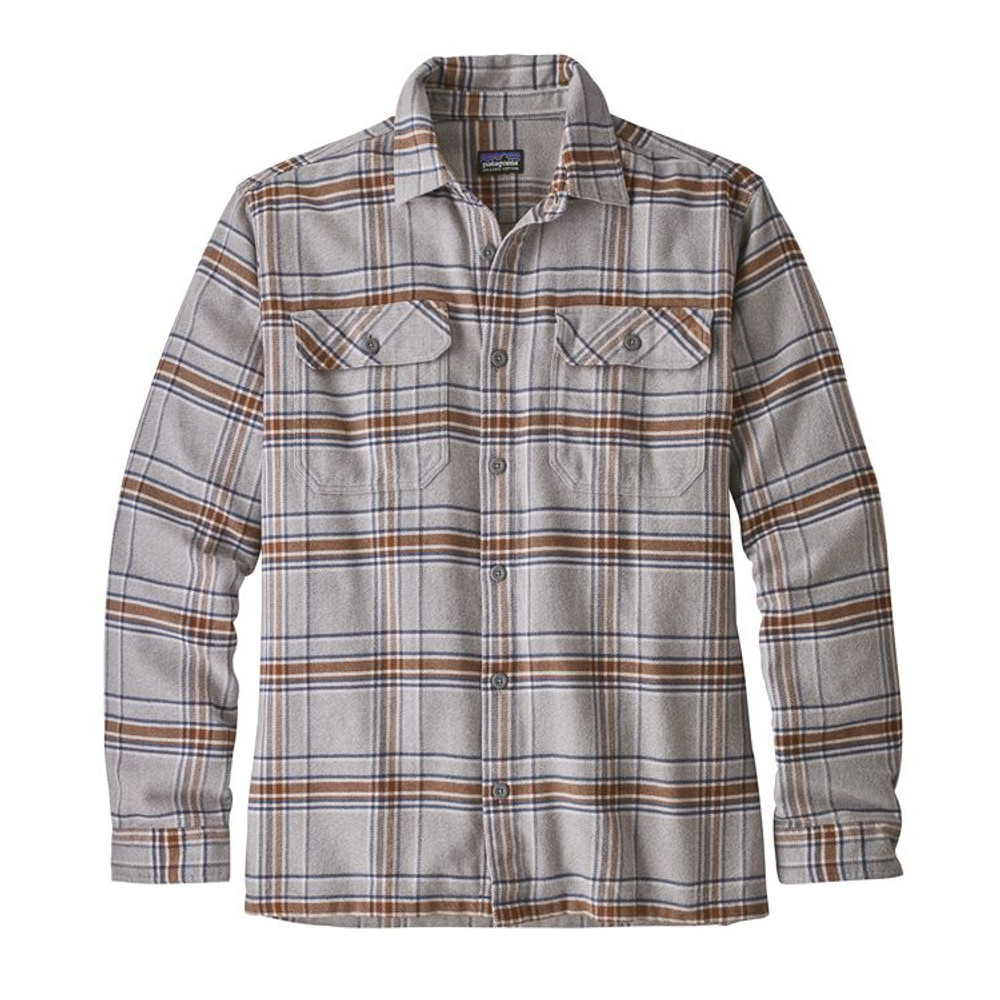 M's L/S Fjord Flannel Shirt Activist: Feather Grey