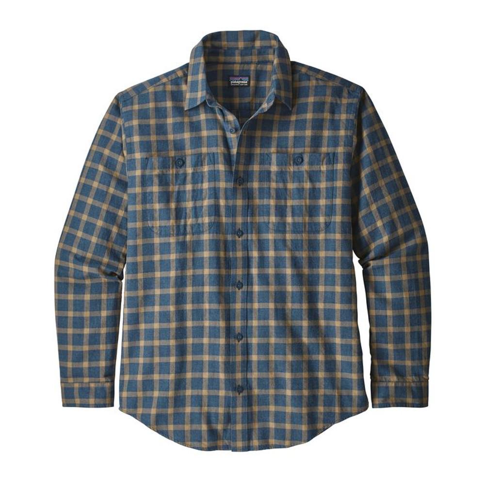 M's L/S Pima Cotton Shirt Lodge Pine: Stone Blue