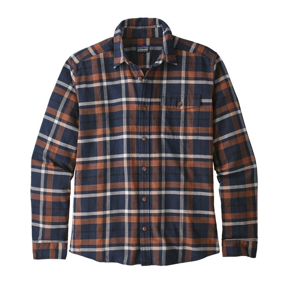 M's LW Fjord Flannel Shirt Tom's Place: Navy Blue