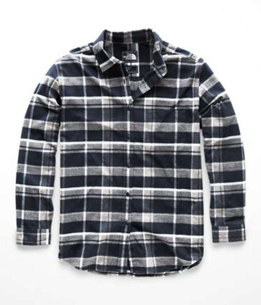 Women's L/S Boyfriend Shirt Urban Navy Multi Tartan Plaid