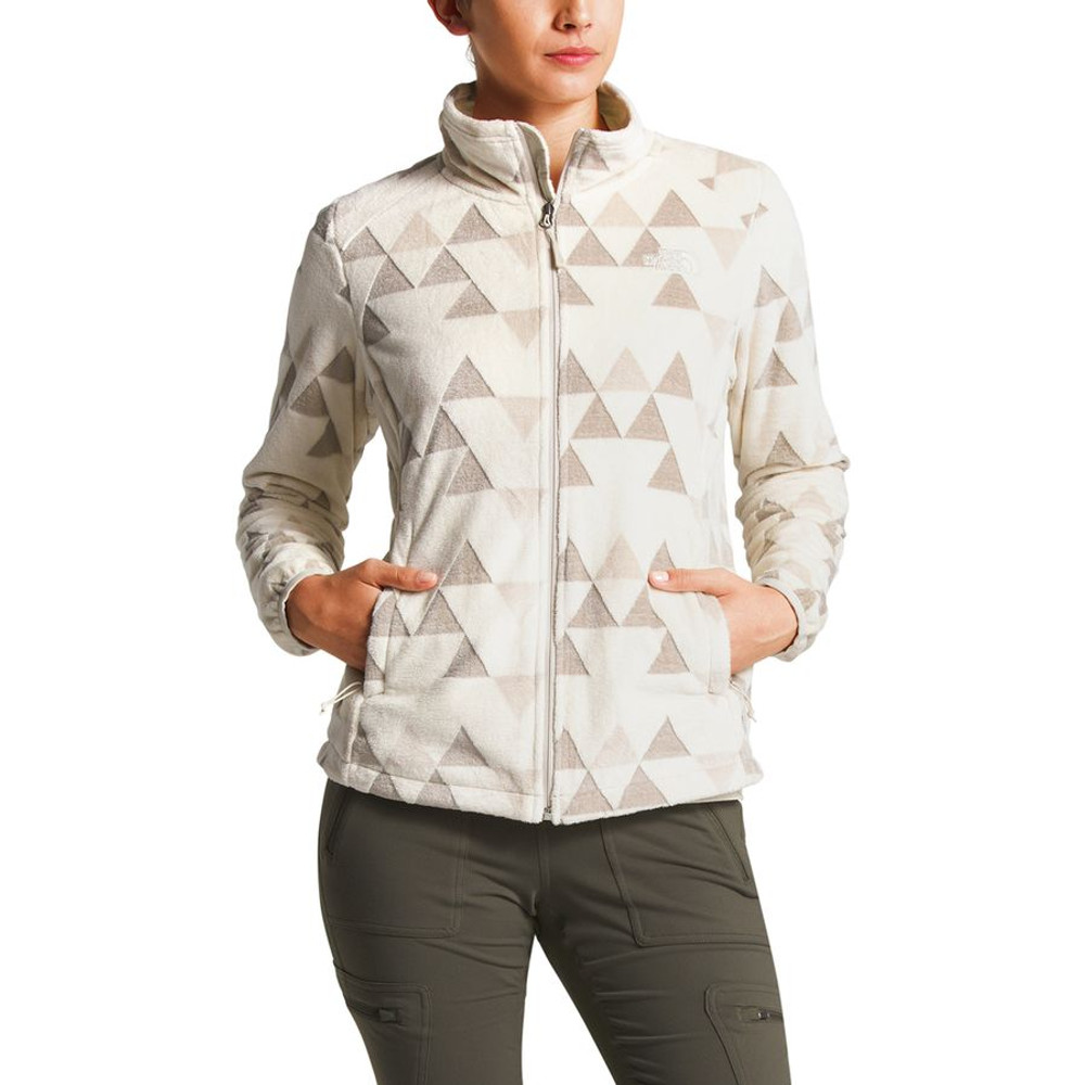 b92f8ed03 Women's Novelty Osito Jacket Vintage White Triangle Pile Pri