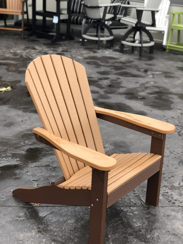 Adirondack Chair Cedar on Chocolate Brown
