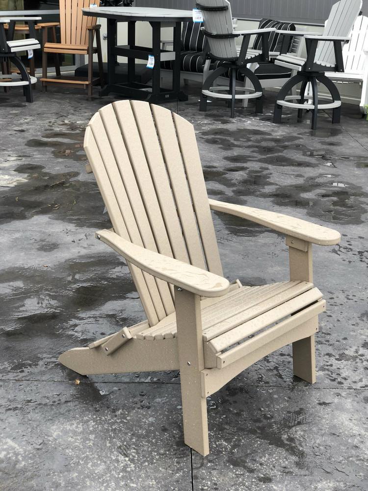 Folding Adirondack Chair Weatherwood
