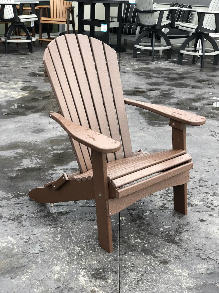 Folding Adirondack Chair Chocolate Brown