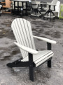 Folding Adirondack Chair Light Gray on Black