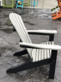 Adirondack Chair Light Gray on Black