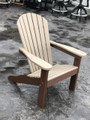 Adirondack Chair Weatherwood on Chocolate Brown