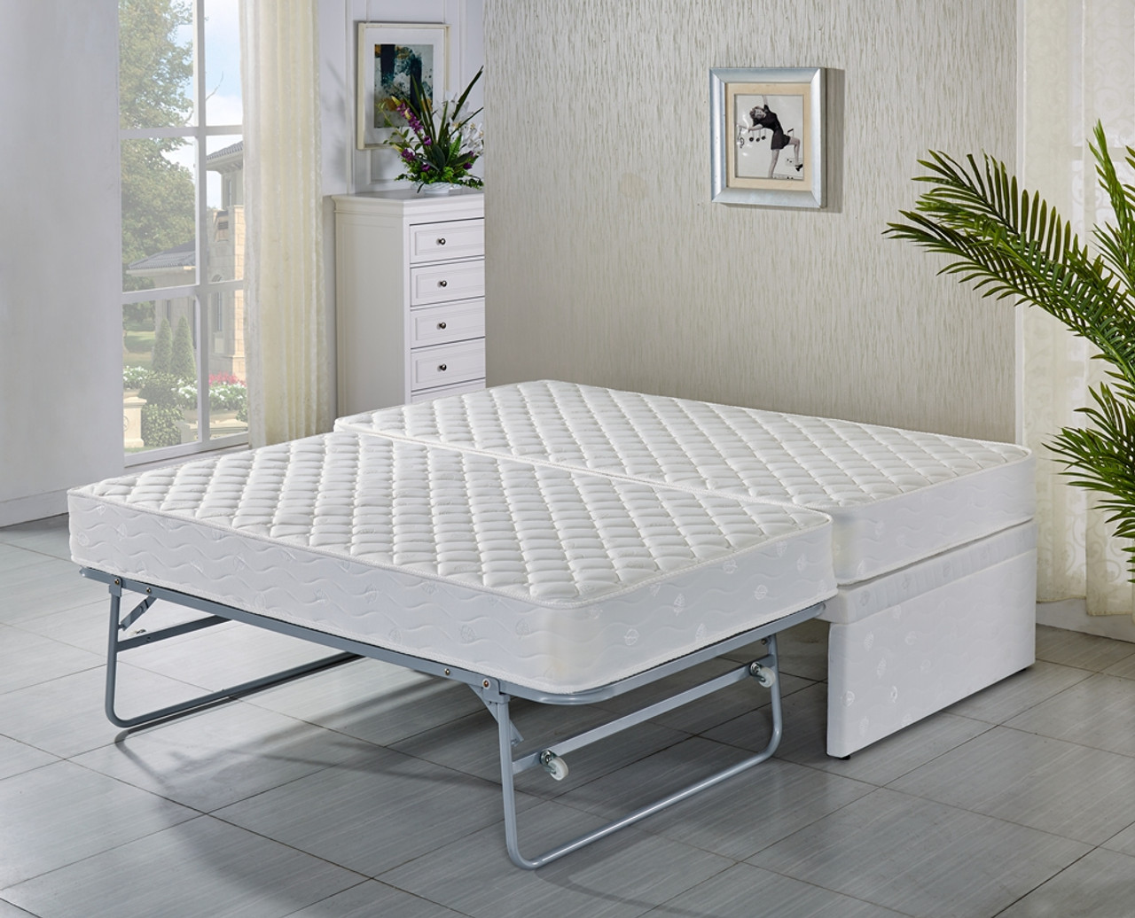 ba91bae81 KING SINGLE Base with Trundle bed with 2 mattresses- 5 years warranty ...