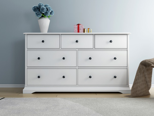 Cardinia 7 chest of drawers/dresser in white