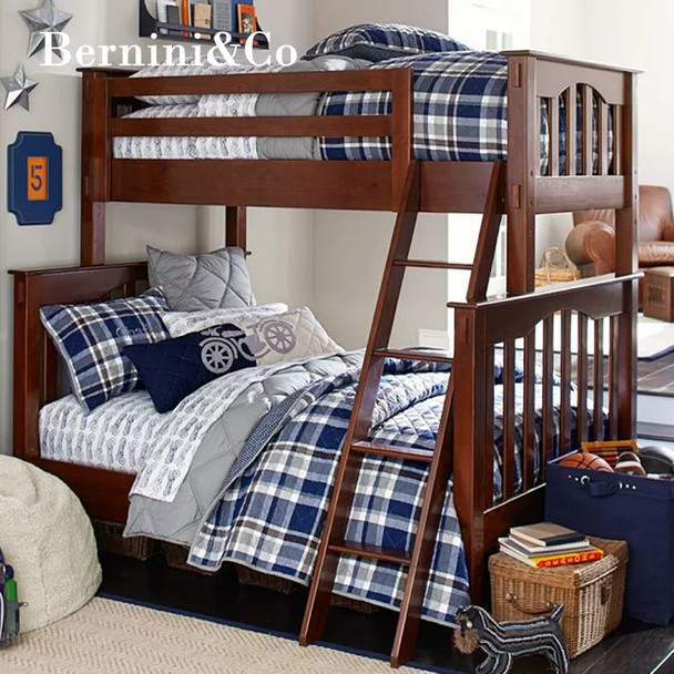 Wooden Timber Bunk Bed Frame Single over Double