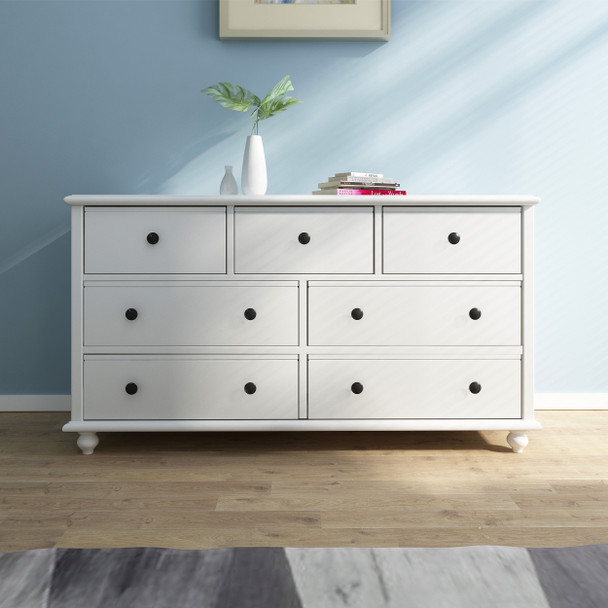 OLIVIA 7 chest of drawers/dresser in white