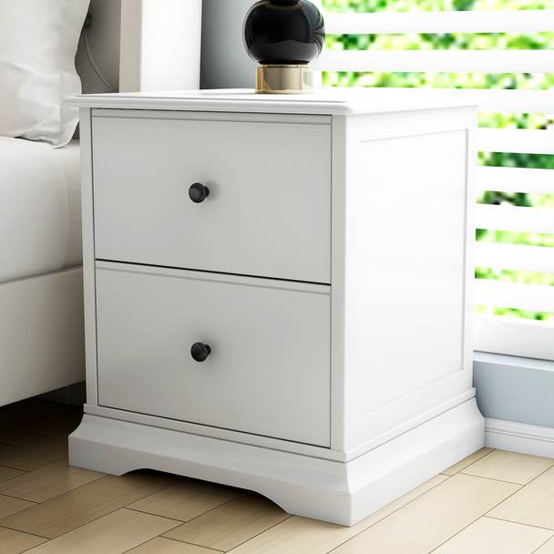 Brand New Cardinia Bedside table  in white finish
