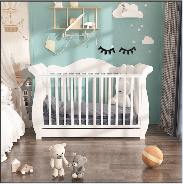 Brand new wooden Addyson baby cot