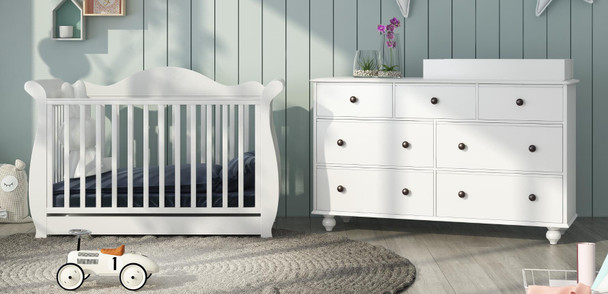 Brand new Addyson baby cot with Olivia change table package