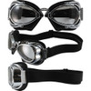 Hot Rod Shiny Chrome Black Leather Clear Lenses