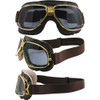 Gold frame Brown leather Smoke lenses