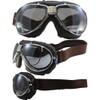 TT 4V Chrome Frame Brown Leather Silver Mirror Lenses & RX Adaptor