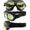 TT 4V Chrome Frame Black Leather Yellow Lenses & RX Adaptor