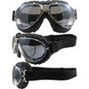 TT 4V Chrome Frame Black Leather Silver Mirror Lenses & RX Adaptor