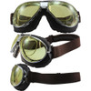 TT 4V Chrome Frame Brown Leather Yellow Lenses & RX Adaptor