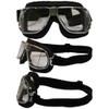 Matte Chrome Black Leather Clear Lenses