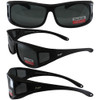 Black Frame Smoke Polarized Lenses