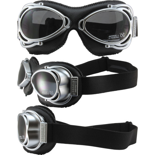 Streetfighter matte chrome, black leather and smoke lenses