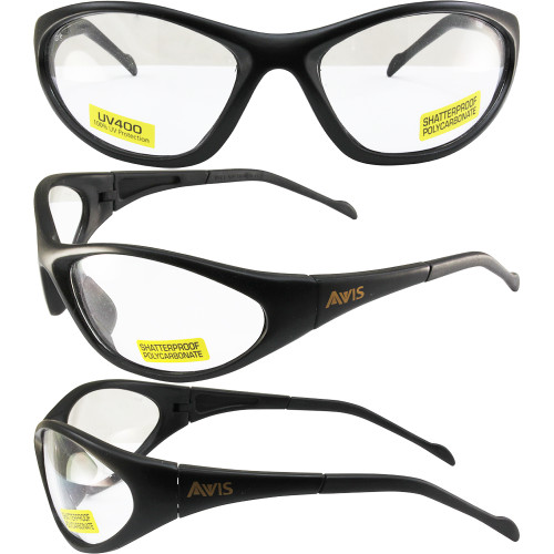 Flexer SAfety Glasses Black Frame with Clear Lens