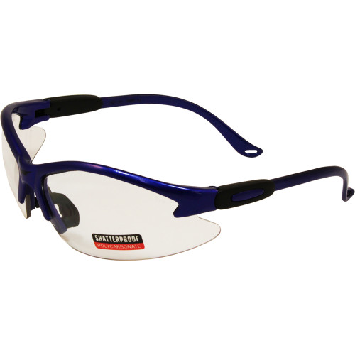 Cougar Safety Glasses Blue Frame