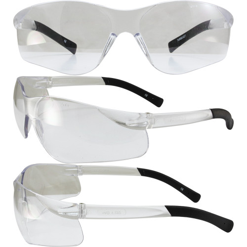 TURBO JET SAFETY GLASSES CLEAR LENS