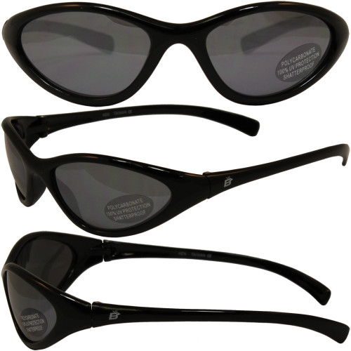 HEN BLACK W/ SMOKE MIRROR LENSES