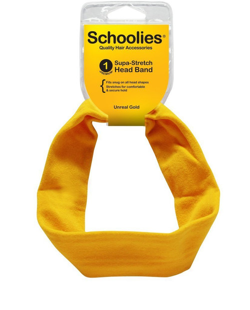 SCHOOLIES SUPA STRETCHHEAD BAND-UNREAL GOLD