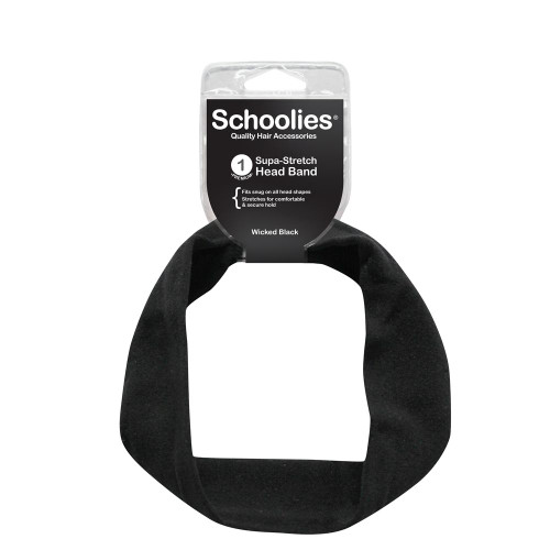 SCHOOLIES SUPA STRETCHHEAD BAND-WICKED BLACK