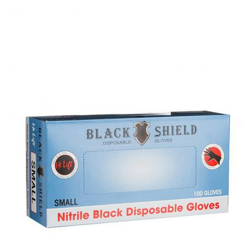 DISPOSABLE BLACK GLOVES (100 PIECES) - SMALL