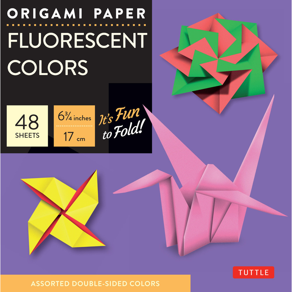 "Origami Paper - Fluorescent Colors - 6 3/4"" - 48 Sheets"