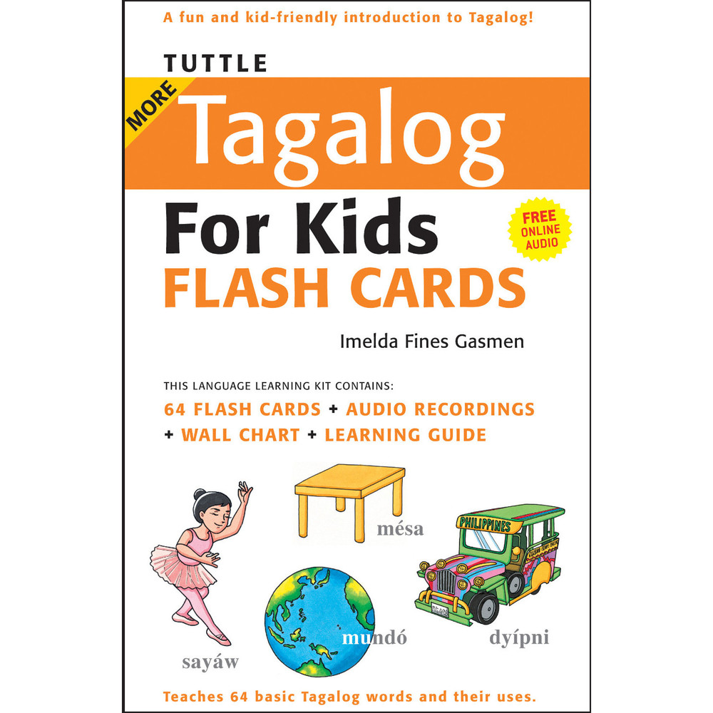 Tuttle More Tagalog for Kids Flash Cards Kit
