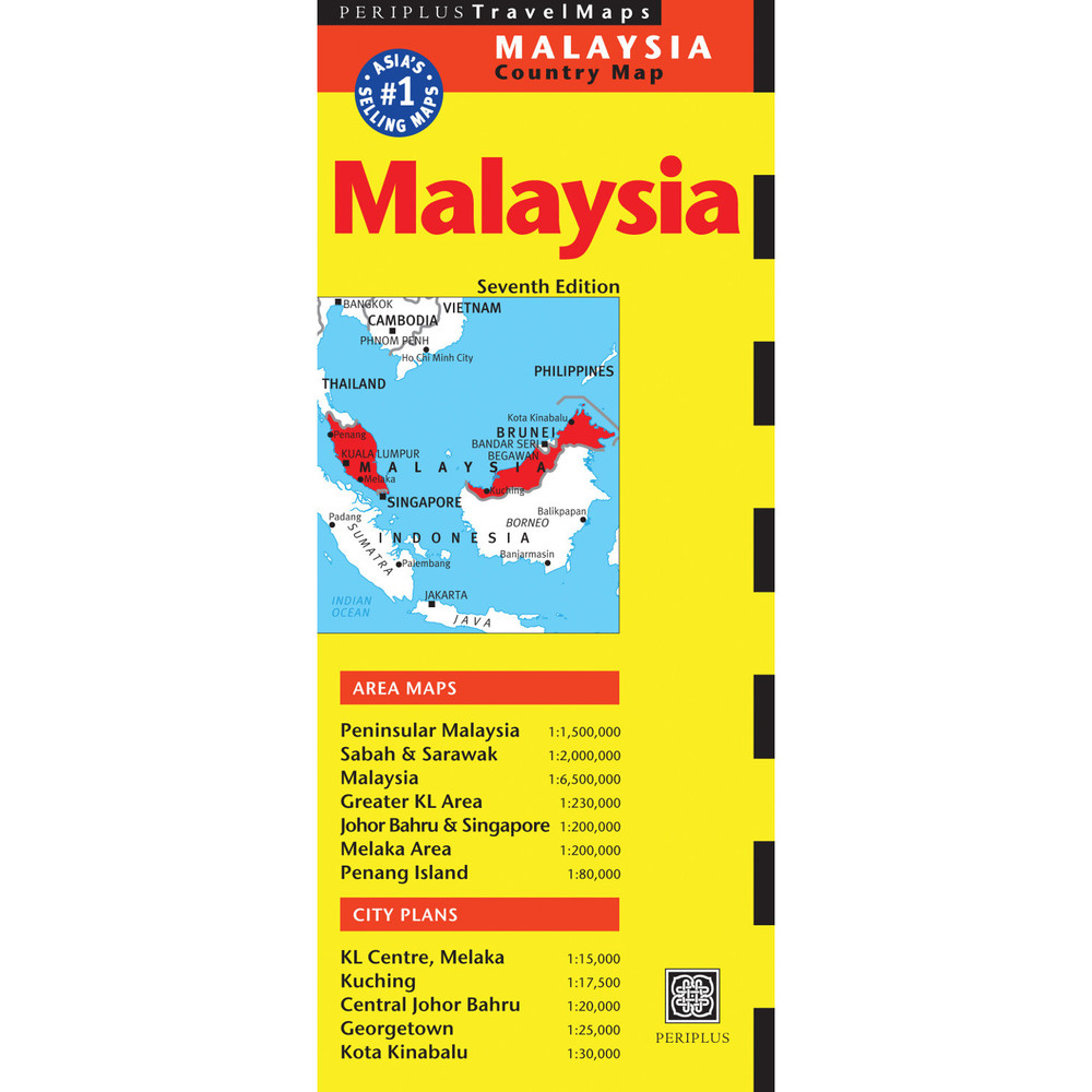 Malaysia Travel Map Seventh Edition