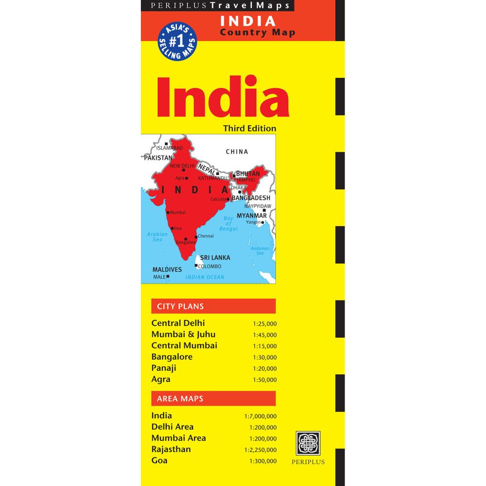India Travel Map Third Edition